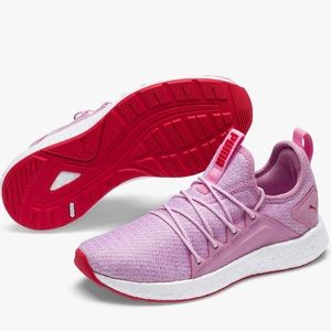 Puma ngry neko knit trainers sneakers pink red